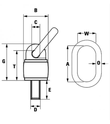 GT Grade 80 Swivel Eye Bolt with Ring