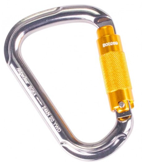 Ridgegear RGK4 Aluminium twist lock Karabiner