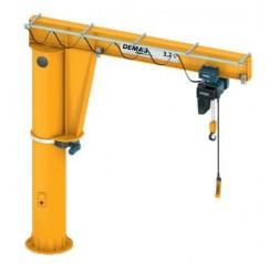 Pillar Mounted High Capacity Large Outreach Jib Cranes