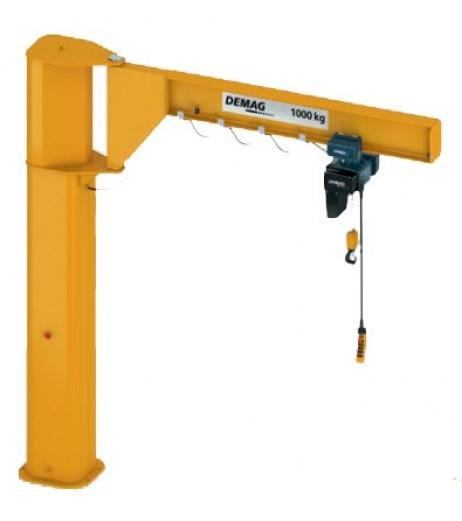 Low Headroom I Beam Pillar Swing Jib Crane