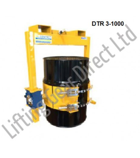 Heavy Duty Fork/Crane Mounted Drum Rotator Contact DTR-3&4-1000