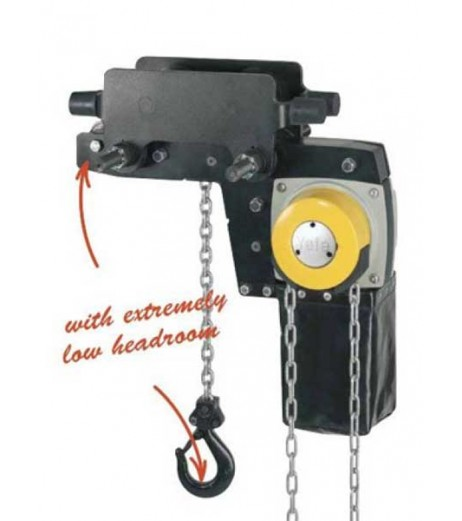 Yale YLLHP/G Low Headroom Chain Block with Trolley