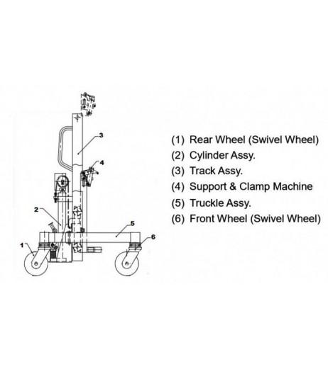 Hydraulic Ergonomic Drum Handler Raptor DT400
