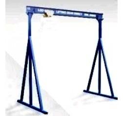 1000KG A Frame Lifting Gantry with 4.5MTR Under beam x 5MTR Span