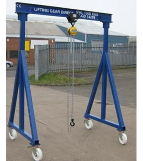 1000KG Mobile Lifting Gantry with 4.5MTR Under beam x 3MTR Span