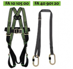 Kratos 2 Point Restraint Harness Kit with Adjustable Web Lanyard