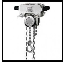 Yalelift ITG corrosion Resistant Chain block with Integral Trolley.
