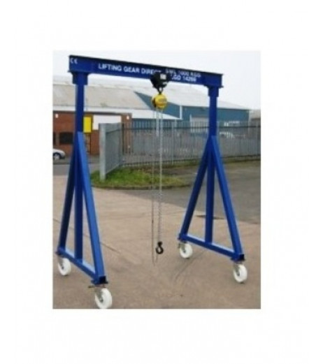 2000KG A Frame Lifting Gantry with 4.5MTR Under beam x 3MTR Span