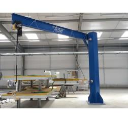 Under braced 1000KG Jib Crane with 4MTR Under beam x 3.5MTR Arm