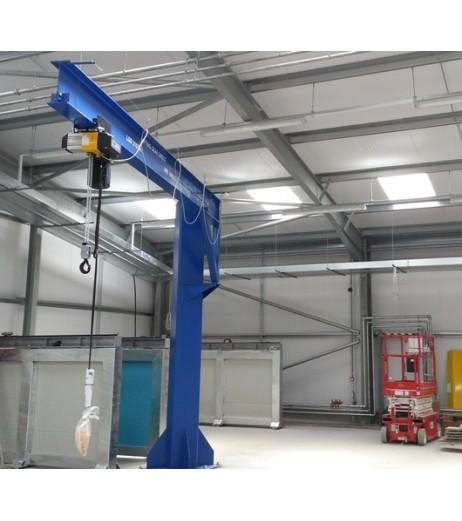 Under braced 1000KG Jib Crane with 5MTR Under beam x 3.5MTR Arm