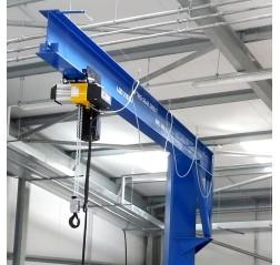 Under braced 125KG Jib Crane with 4MTR Under beam x 4MTR Arm