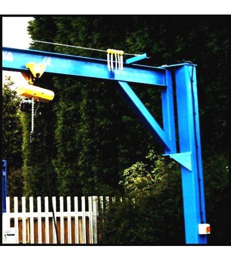 Under braced 2000KG Jib Crane with 3MTR Under beam x 3.5MTR Arm