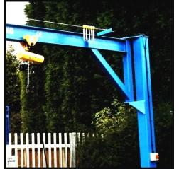 Under braced 500KG Jib Crane with 3MTR Under beam x 3.5MTR Arm