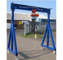 500KG Mobile Lifting Gantry with 3MTR Under beam x 3MTR Span