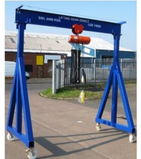 2000KG A Frame Lifting Gantry with 3MTR Under beam x 3MTR Span