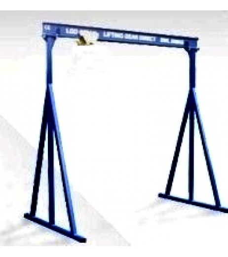 1000KG A Frame Lifting Gantry with 4.5MTR Under beam x 4MTR Span