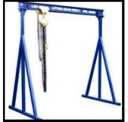 1000KG A Frame Lifting Gantry with 4.5MTR Under beam x 3MTR Span