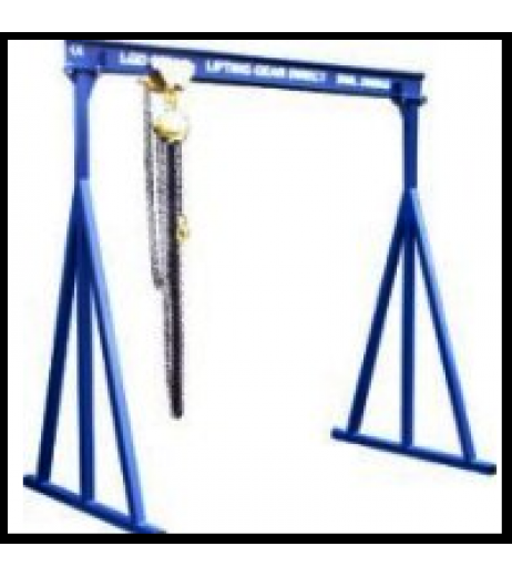 500KG A Frame Lifting Gantry with 3MTR Under beam x 5MTR Span