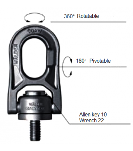 Cromox CDAW Stainless Steel Swivel Lifting Point