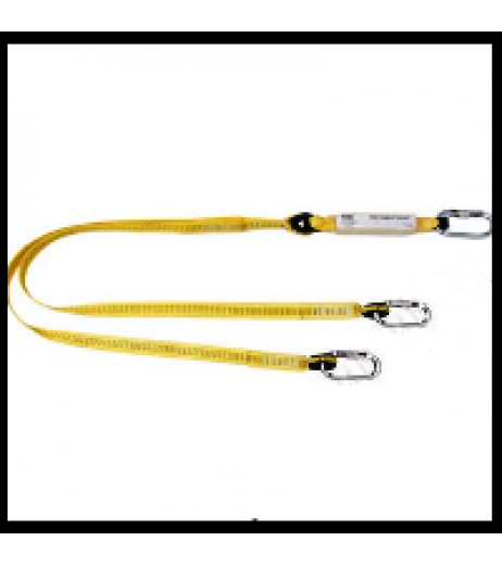 Yale CMHABM2T Twin Tail Fall Arrest Webbing Lanyard