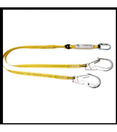 Yale CMHABM2Tscaff  twin tail fall arrest webbing lanyard