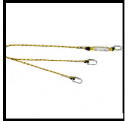 Yale CMHABMLB102 twin tail Fall Arrest Rope Lanyard
