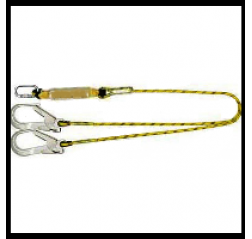 Yale CMHABMLB102scaff Twin Tail Fall Arrest Rope Lanyard