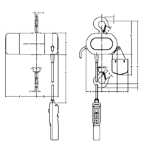 CPS 110/1-4 Electric Hoist