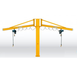 Demag Double Arm Pillar Swing Jib Crane