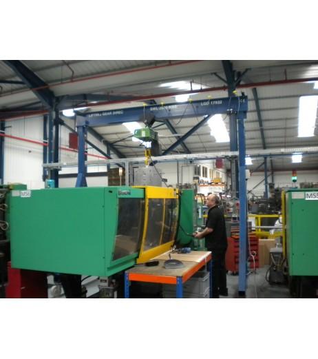 5000KG A Frame Lifting Gantry with 3.5MTR Under beam x 3MTR Span