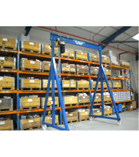 500KG Mobile Lifting Gantry with 3MTR Under beam x 5MTR Span
