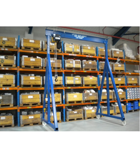 1000KG Mobile Lifting Gantry with 3MTR Under beam x 3MTR Span