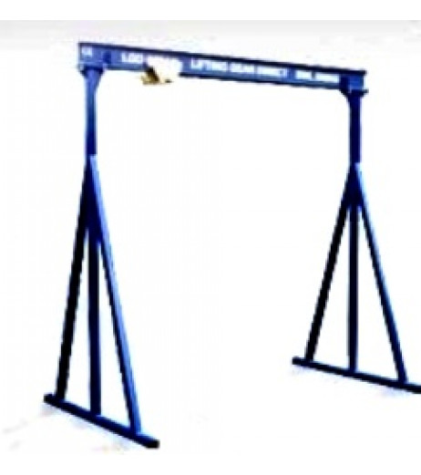 500KG A Frame Lifting Gantry with 4.5MTR Under beam x 5MTR Span