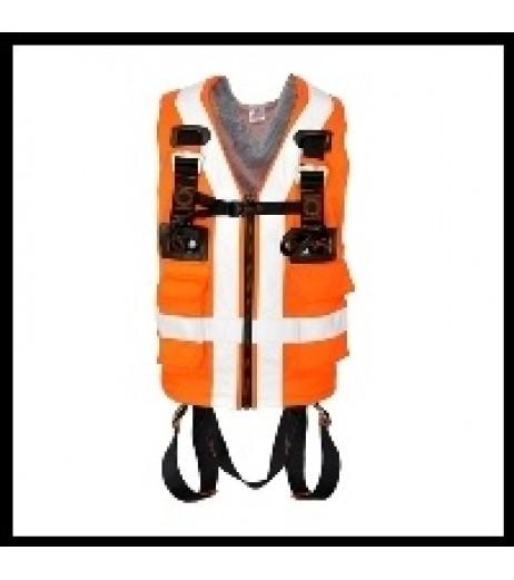 Kratos FA 10 303 00 2 Point  High Visibility Full Body Harness (Orange)