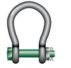 Green Pin Wide Mouth Shackles