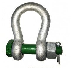 Green Pin Bow Shackle with Safety Bolt