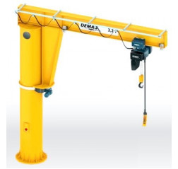 Pillar Mounted High Capacity Large Outreach Jib Cranes