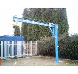 Under braced 1000KG Jib Crane with 3MTR Under beam x 4MTR Arm