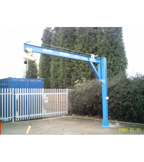 Under braced 250KG Jib Crane 4MTR Under beam x 3.5MTR Arm