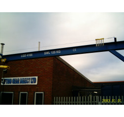 Under braced 125KG Jib Crane with 4MTR Under beam x 3.5MTR Arm
