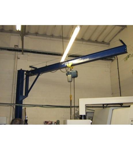 Under braced 125KG Jib Crane with 4MTR Under beam x 3MTR Arm