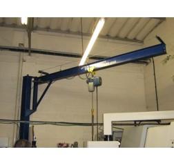 Under braced 500KG Jib Crane with 5MTR Under beam x 4MTR Arm