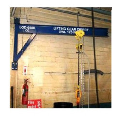 Wall Mounted 250KG Jib Crane with 4MTR Arm