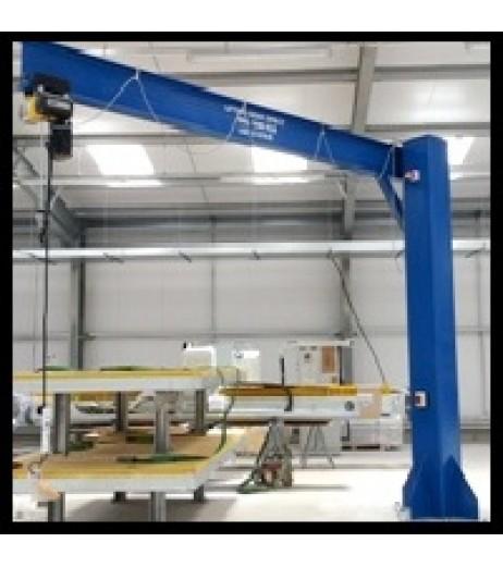 Under braced 1000KG Jib Crane with 5MTR Under beam x 5MTR Arm