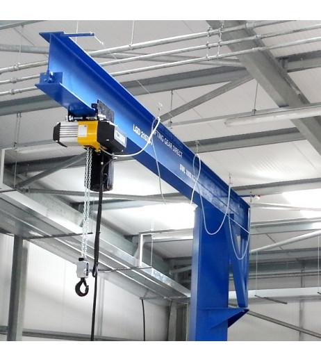 Under braced 500KG Jib Crane with 5MTR Under beam x 3.5MTR Arm
