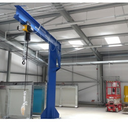 Under braced 1000KG Jib Crane with 5MTR Under beam x 5MTR Arm