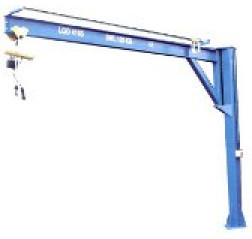 Under braced 250KG Jib Crane with 4MTR Under beam x 4MTR Arm
