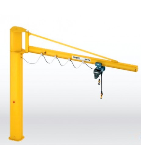 Long Outreach Over braced I Beam Pillar Swing Jib Crane