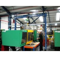 5000KG A Frame Lifting Gantry with 4.5MTR Under beam x 5MTR Span