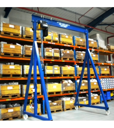 3000KG A Frame Lifting Gantry with 4.5MTR Under beam x 3MTR Span